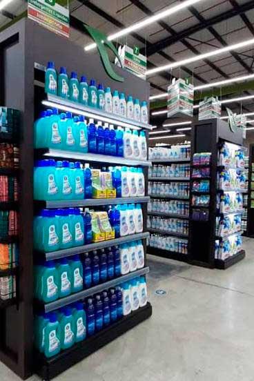 gondolas y puntos de pago para supermercados